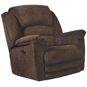 Rialto Brown Chaise Rocker Recliner