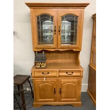 Oak Hutch and Buffet