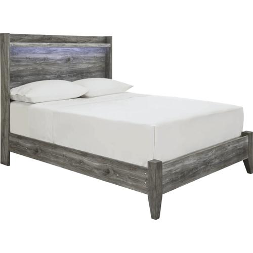 Baystorm- Gray- Full Panel Bed
