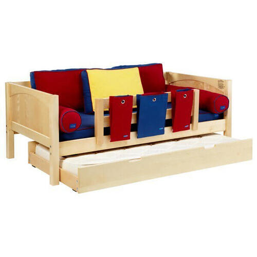 Yeah Daybed w/ Back and Front Safety Rails : Twin : Natural : Panel