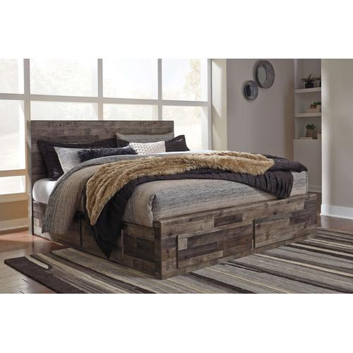 Derekson King Storage Bed Multi Gray