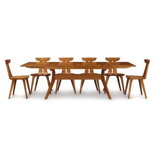 AUDREY EXTENSION TABLES WITH EASYSTOW EXTENSION AND LEAF STORAGE IN WALNUT