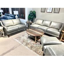 View Product - Stallion Light Grey Leather Sofa & Loveseat