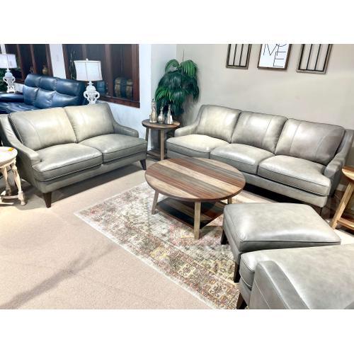 Simon Li Furniture - Stallion Light Grey Leather Sofa & Loveseat