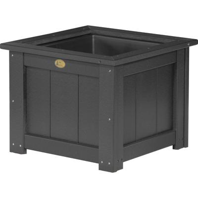 "Square Planter 24"" Black"