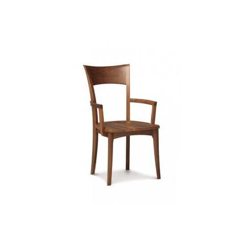 INGRID ARMCHAIR WITH WOOD SEAT IN WALNUT