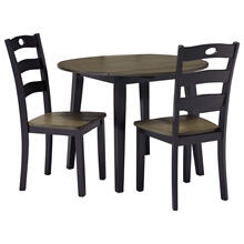 Froshburg 3pc Drop Leaf Table Set