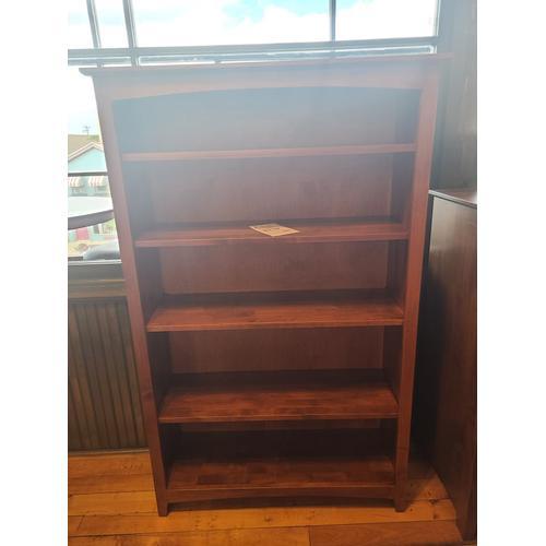 Archbold Furniture - Alder Shaker 36x60 Bookcase - Antique Cherry