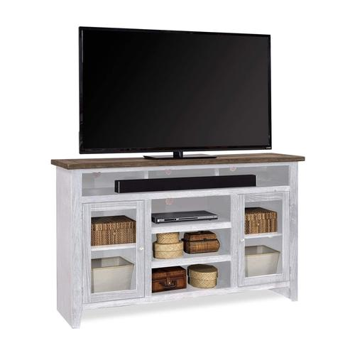 """Aspen Furniture - 65"""" Highboy Console in White Finish with 2 Doors"""