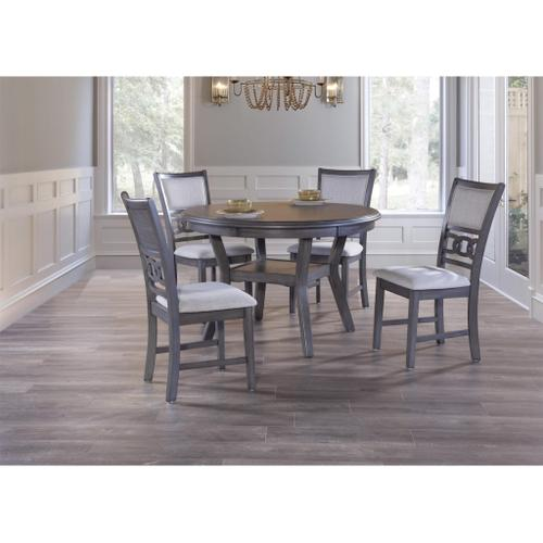 Gia Round Dining Table & 4 Chairs