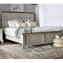 See Details - Bear Creek Farmhouse King Panel Bed with Chevron Headboard