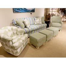 "Capris ""Kiwi"" Sofa, Swivel Glider, Chair and Ottoman Set"