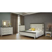 Stone Collection: Includes QUEEN Bed, Complete Six Drawer Dresser with Mirror, Four Drawer Chest, and 2 One-Drawer Nightstands