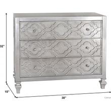 See Details - Silver Leaf Three Drawer Chest