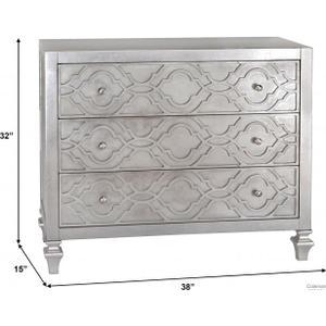 Pulaski Furniture - Silver Leaf Three Drawer Chest