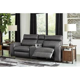 See Details - Samperstone Reclining Sectional w/ Console