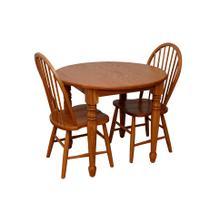 Round Harvest Table Set