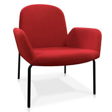 Tutti - lounge chair in red