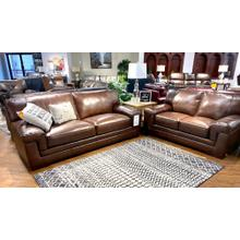View Product - Stallion Thistle Leather Sofa & Loveseat
