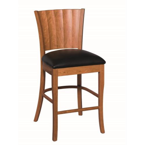 Amish Furniture - Rippleback Counter Stool
