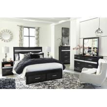 B304 4PC Set: Dresser, Mirror, Chest, and Nightstand (Starberry)