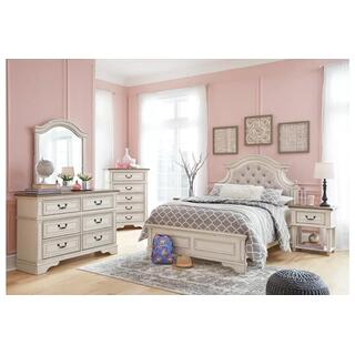 Realyn Chipped White Full Bedroom Set