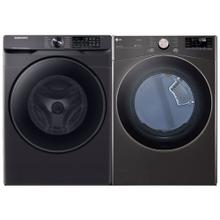 See Details - 5.0 cu. ft. Smart Front Load Washer with Super Speed & 7.4 cu. ft. Ultra Large Capacity Smart wi-fi Enabled Front Load Electric Dryer - Open Box