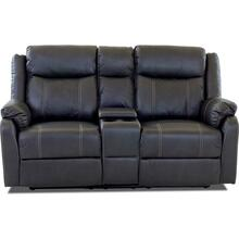 DOMINO Casual console reclining loveseat - Valor Carbon