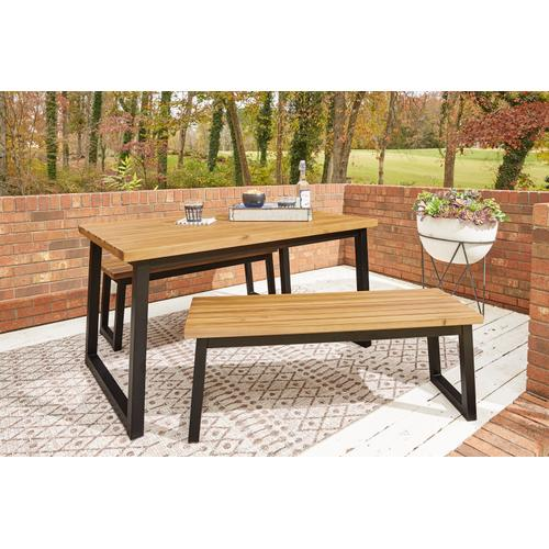 Signature Design By Ashley - Town Wood Outdoor Dining Table Set (set of 3)