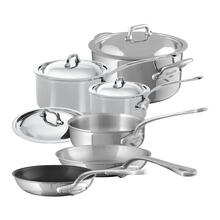 Mauviel M'Cook Stainless Steel Cookware Set 10 Pieces With Cast Stainless Steel Handles