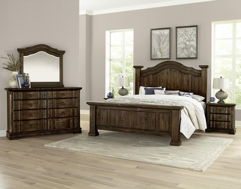 Rustic Hills Coffee Finish Poster Bed