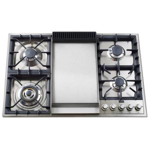 """On Display!  Pro-Style Gas Range with Griddle and MultiMode Convection, 36"""""""