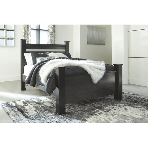 Starberry- Black- Queen Poster Bed