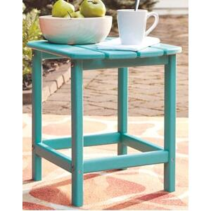 Ashley Furniture - Sundown Rectangular End Table - Turquoise
