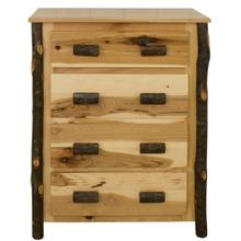 Hickory 4-Drawer Chest