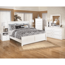 Bostwick Shoals- White- 8 Pc- Dresser, Mirror, Chest, Nightstand & King Panel Bed
