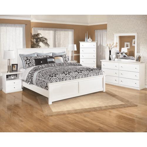 Bostwick Shoals- White- 8 Pc- Dresser, Mirror, Chest, Nightstand & King Panel Bed