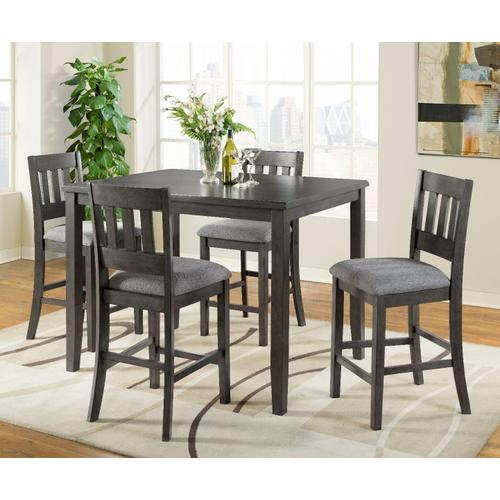 Ithaca 5 Pc Grey Counter Height Dinette Set by Vilo Home, Model VH575