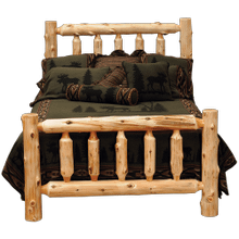 Cedar Traditional Log Bed
