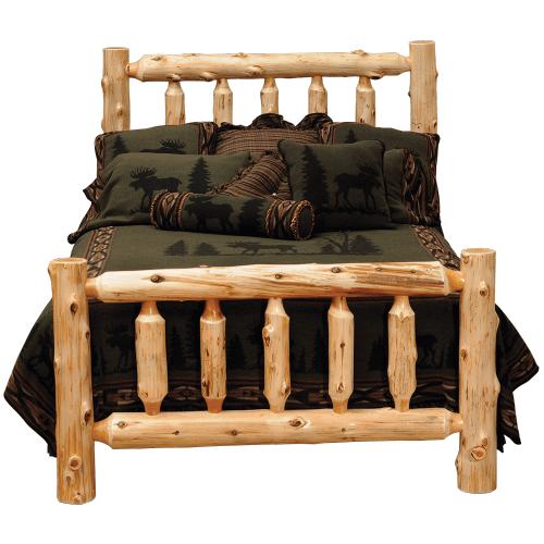 Cedar Traditional Log Bed