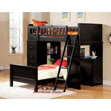 Acme 10970 Willoughby Black Twin loft Bedroom set Houston Texas USA Aztec Furniture