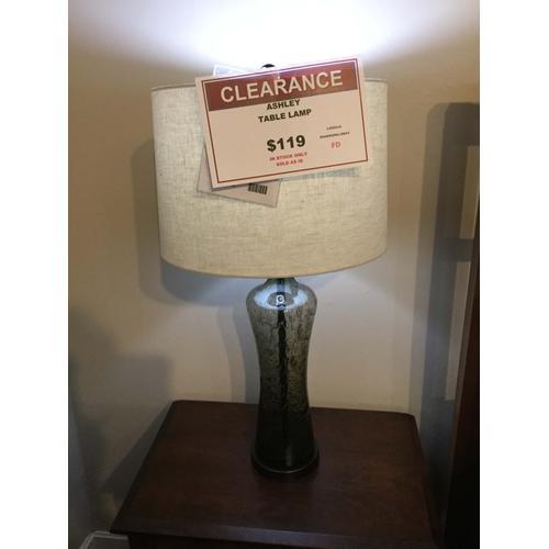 """Ashley """"Sharrona"""" Gray L430214 Table Lamp 33""""H"""