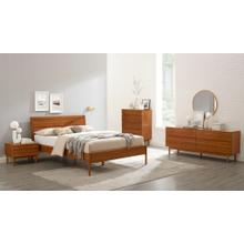 Ventura Eastern King Platform Bed, Amber