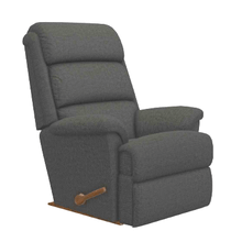 See Details - Astor Leather Rocking Recliner in Charcoal        (10-519-C137187,39971)