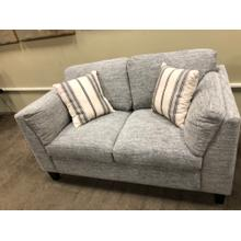 See Details - Grey Loveseat with Accent pillows $699