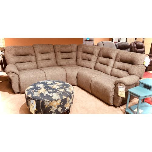 UNITY 5PC RECLINING SECTIONAL in Umber       (M730S-18966,M730S)