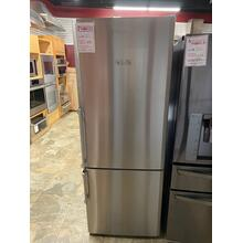 View Product - 27in 15 cuft bottom freezer fridge with internal auto ice maker, stainless steel