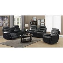 CAYMAN Black Sofa, Loveseat and Recliner