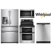 "WHIRLPOOL PACKAGE 36"" FRENCH DOOR W/ DOUBLE OVEN RANGE"