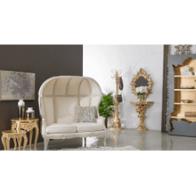 Brulee Beige Dome Loveseat